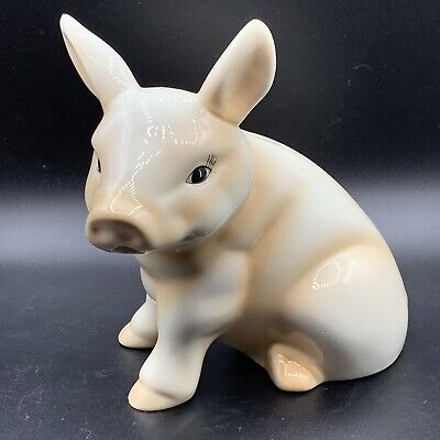 Vintage Young's Piggy Bank Pink Pig