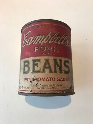 Vintage Campbells Pork And Beans can