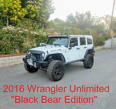 "2016 Wrangler Black Bear Unlimited, 4"" Lift, 35"" Tires, Loaded, Calif. JKU"