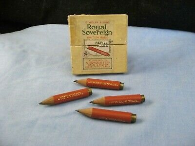 Antique Wolff Royal Sovereign Sampson Mordan Cedar Pencil Refill Spares