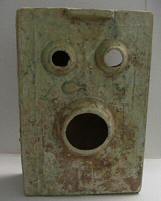 Ancient  Chinese Green Glaze Pottery Ceramic Han Dynasty Tomb Burial Stove Model