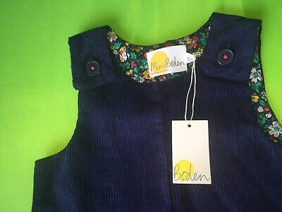 Mini Boden girls Navy cord  playsuit  4-5 years RRP £32.