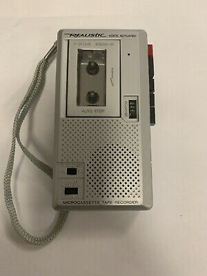Realistic Micro-18 Cassette Tape Recorder, Voice Activated, Model # 14-1042