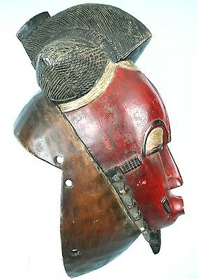 Art African tribal Ethnic - Awesome Mask Helm Baoulé - 43 CMS