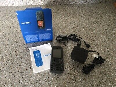 Nokia 100 (Unlocked) Grey Boxed with Charger, Earphones & User Guide