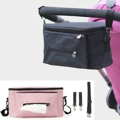 Infant Diaper Bag Waterproof Insulation Polyester Zipper Baby Stroller Organizer