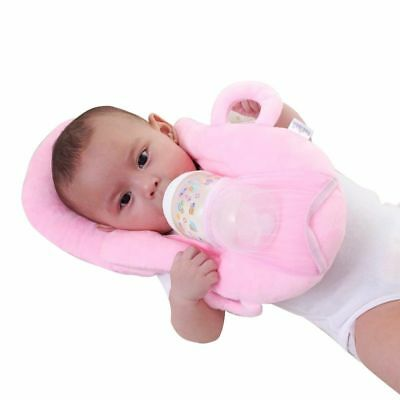 Baby Feeding Pillow Set Cotton Head Protection Infant Cushion with Bottle Holder