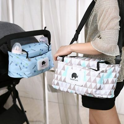 Stroller Hanging Bag Thick Waterproof Multi-function Baby Diaper Nappy Storage