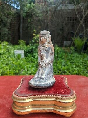 Ancient Egyptian Ushabti Pottery Statue Mother Is Horus Roman Antiquities