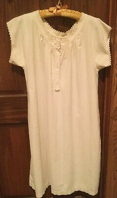 French Antique Ivory Linen dress 1890-1900