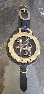 Brass Wales Griffin Gryphon Gruffudd Bridle Horse Tack Charm Emblem