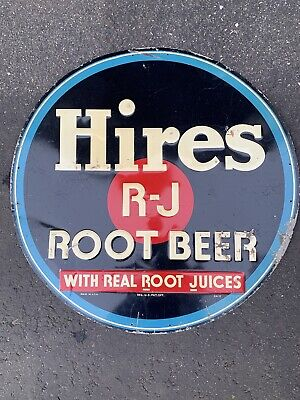 VINTAGE ADVERTISING HIRES ROOT BEER 1 METAL SODA SIGN 24x24