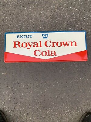 Vintage 60s Collectible Royal Crown Cola RC Soda Embossed Sign A 31.75x11.75
