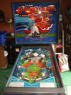 """1983 Reconditioned Bally Midway """"Grand Slam"""" 2Player Pinball Machine 1St Version"""