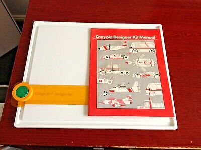 Vintage 1982 Crayola Designer Kit Drawing Board For Vehicles Set