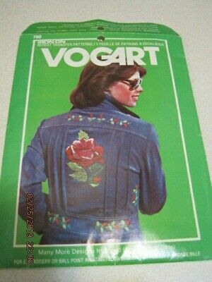 VOGART 1976 Hot Iron Transfer Pattern 760 RARE Embroidery or Ball Point Painting