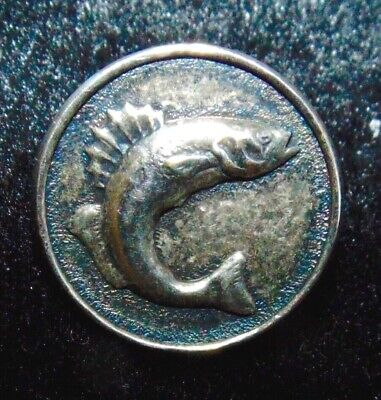 Small Vintage Fish Button #1916