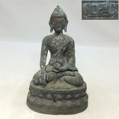 A065: Nepalese Buddhist statue of copper ware with appropriate work and sign