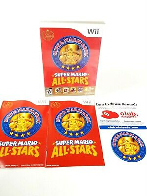 Super Mario All-Stars (Nintendo, Wii 2010) CASE, MANUAL INSERTS ONLY. *NO DISK*