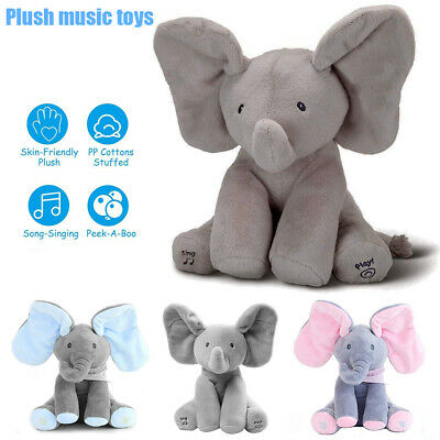 Elephant Baby Peekaboo Talking PP cotton Doll Soft Singing Stuffed animals Plush