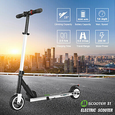 Megawheels S1 Folding Electric Scooter 250W Aluminum Kick E-Scooter For Teens