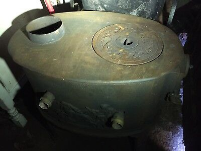 Antique Cast Iron Lange & Co Svendburg Wood Burning Burner Stove Oven 6303
