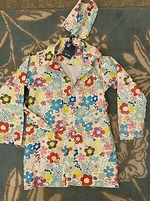 Brand New Peter Storm Floral Waterproof Windproof Girls Ages 13 Mac Jacket