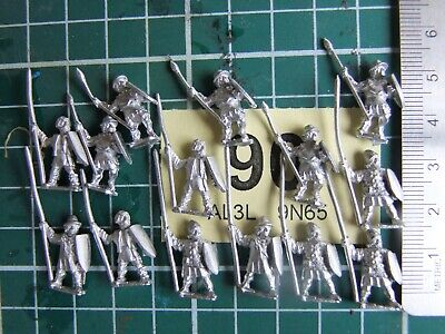15mm Essex Miniatures Medieval Infantry with Spear and Shield    (Y90)