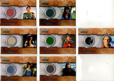 Xena - Beauty & Brawn Costume Card Set Of 6 - Lucy Lawless - Hudson Leick - Rare