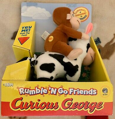 Curious George Rumble 'N Go Friends On Cow Vibrating Toy New Marvel Toys