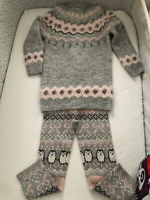 Girls Penguin Outfit 1.5-2 Years Primark