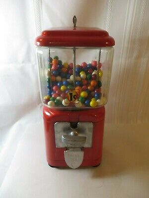 Vintage Oak Acorn 1 Cent Gumball Machine  Restored