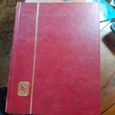 RED A4 32 BLACK PAGES (64 sides) STANLEY GIBBONS STAMP STOCKBOOK/ALBUM