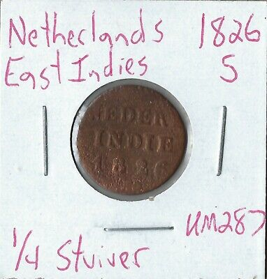 Coin Netherlands East Indies 1/4 Stuiver 1826 S, KM287