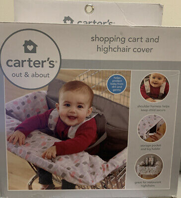 Carters Child Pink High Chair/Shopping Cart Cover Baby Girl- New