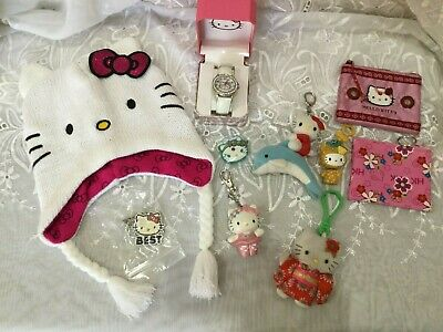 Hello Kitty Lot Hat Crystal Watch Coin Purses Key Chains