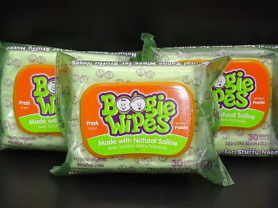 3 packs! Boogie Wipes : Fresh Scent   30 count / pack