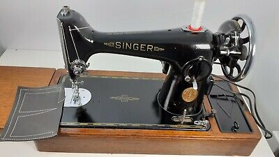 Semi-Industrial Singer 201K Elec Sewing Machine, SERVICED, PAT TEST,sews LEATHER