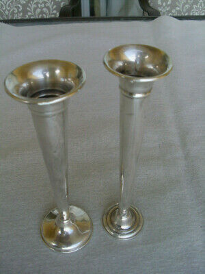 Sterling silver Trumph weighted vase of 2