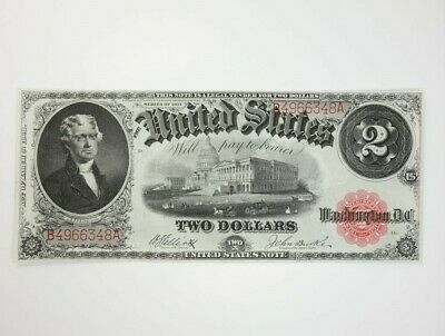 Estate US Series 1917 $2 Large Size United States Note w Original Crispness