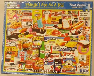 White Mountain 1000 Piece Puzzle Things I Ate As A Kid 1110