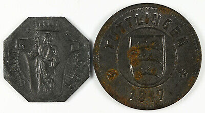 Two Germany WWI Stadt City War Tokens