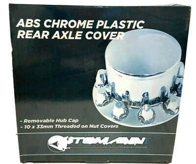 Rear Axle Cover Kit ABS Chrome Finish Push-On 33mm