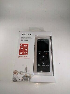 Sony ICD-UX560 Stereo Digital Voice Recorder w/Built-in USB for voice memos