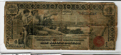 1896 $1 Silver Certificate - Educational issue - Circulated