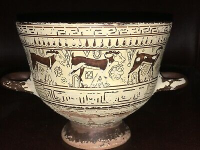 VTG Reproduction of ANCIENT GREEK CHIOT Geometric Style Pottery Chalice