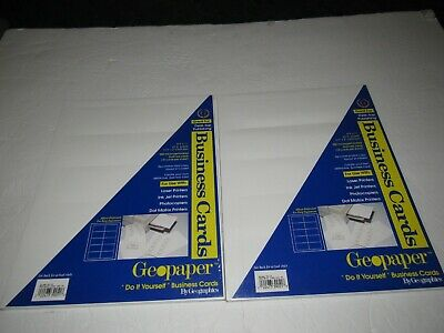 Factory Sealed Geographics Business Cards 65 Lb. Paper 700