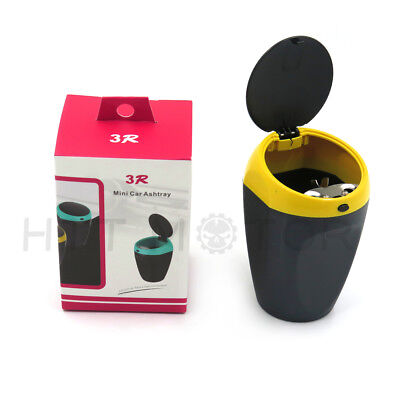 Cigarette Auto Car Bucket Self Extinguishing Ashtray Home Butt Yellow Cup Holder