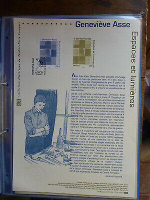 France 2017 Paintings- Genevieve Asse First Day Of Issue Stamp Sheet