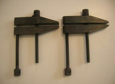"""STARRETT No.161E TOOLMAKERS PARALLEL CLAMPS -NEW- """"FREE SHIPPING"""" Quantity 2"""